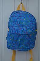 Детский рюкзачок для мальчиков синий, черный