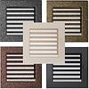 Вентиляционная решетка для камина бежевая, чёрная, графитовая, золотая, серебряная 22х22 см с жалюзи