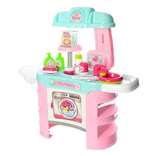 Кухня для детей Маленький Шеф розовая 008-810