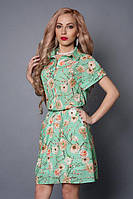 Легкое платье рубашечного покроя из креп-шифона
