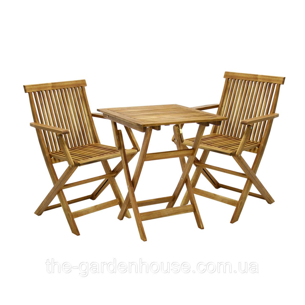 Двухместный набор садовой мебели Finlay из дерева акации