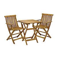Двухместный набор садовой мебели Finlay из дерева акации, фото 1