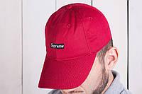 Бейсболка мужская supreme кепка красная