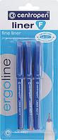 Линер 4621/03 F ergoline, набір 3 шт. (блістер)  синий, красный, черний.