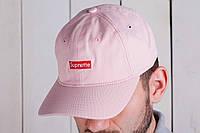 Бейсболка мужская supreme кепка розовая