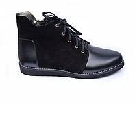 """Женские  кожаные ботинки мод.""""Шнурок"""""""