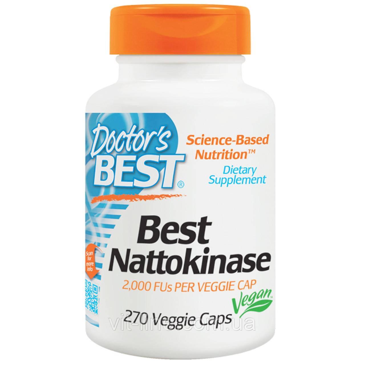 Doctor's Best, Наттокиназа 2000 МЕ, 270 растительных капсул