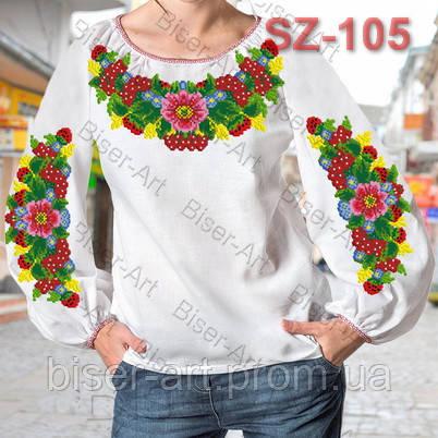 Заготовка для вишивки жіночої сорочки CZ-105 на габардині -  Гуртово-роздрібний інтернет магазин 8203d47621073