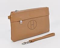 Кошелек-клатч кожаный Hermes 1905 светло-коричневый