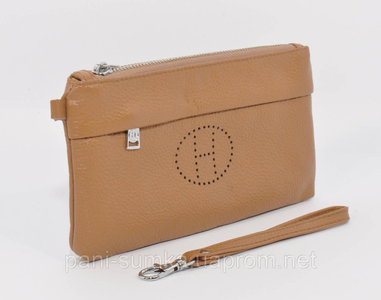 465ca3f1676a Кошелек-клатч кожаный Hermes 1905 светло-коричневый - Интернет магазин