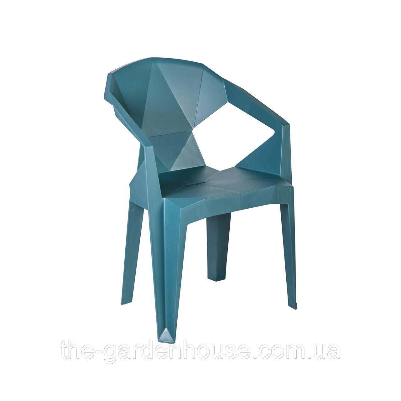Пластиковый стул с подлокотниками Muze синий