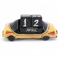 Деревянный календарь Автомобиль на стол