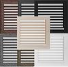 Решетка для камина оскар белая, оскар бежевая, чёрная, оскар чёрное золото, серебро 17х17 см с жалюзи