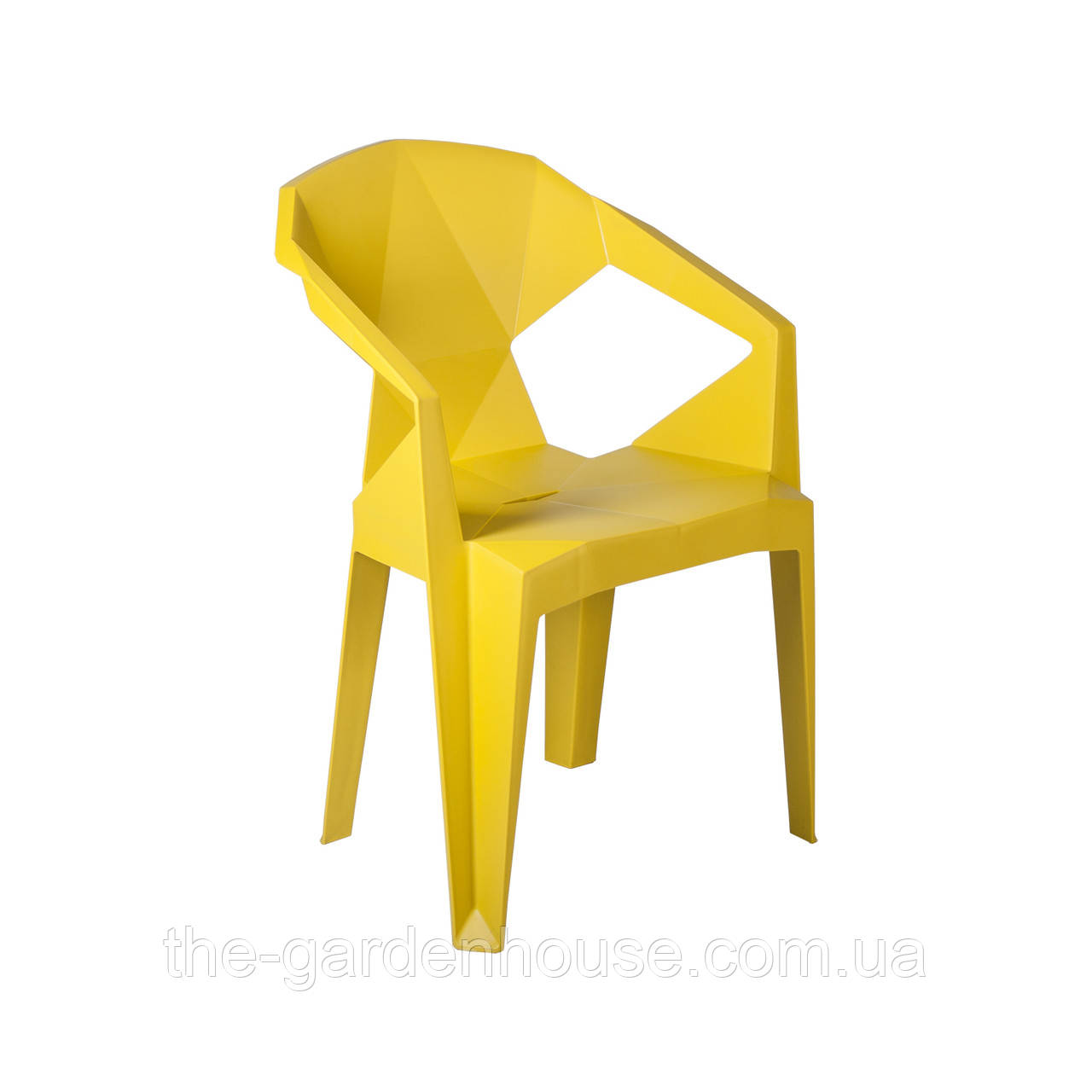 Пластиковый стул с подлокотниками Muze желтый