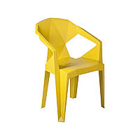 Пластиковый стул с подлокотниками Muze желтый, фото 1