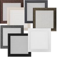 Решетка для камина оскар белая, оскар бежевая, чёрная, оскар чёрное золото, серебро 22х22 см, фото 1