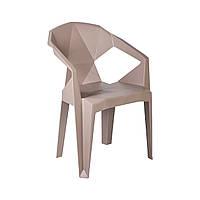 Пластиковый стул с подлокотниками Muze пурпурно-серый, фото 1