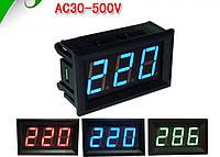 Вольтметр V28 AC 70-500 В(красные цифры)