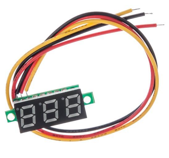 Вольтметр XH-B103 DC 0-30 В (красные цифры)