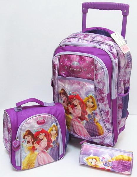 "Рюкзак на колесах ""Princesses"""" +сумочка и пенал"