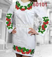 Заготовка для вишивки жіночого плаття С-60101на габардині