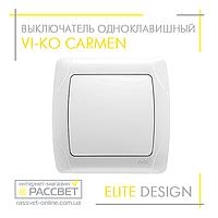 Выключатель одноклавишный VI-KO Carmen белый, фото 1