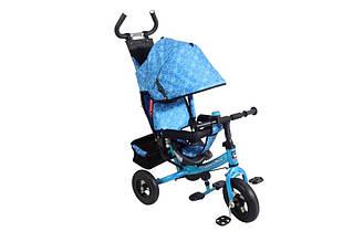 Велосипед Трёхколесный VT1406A Голубой надувные колеса
