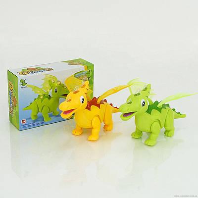 Динозавр 1014 А (36/2) звук - рычит, свет, ходит, проектор, на батарейке, в коробке