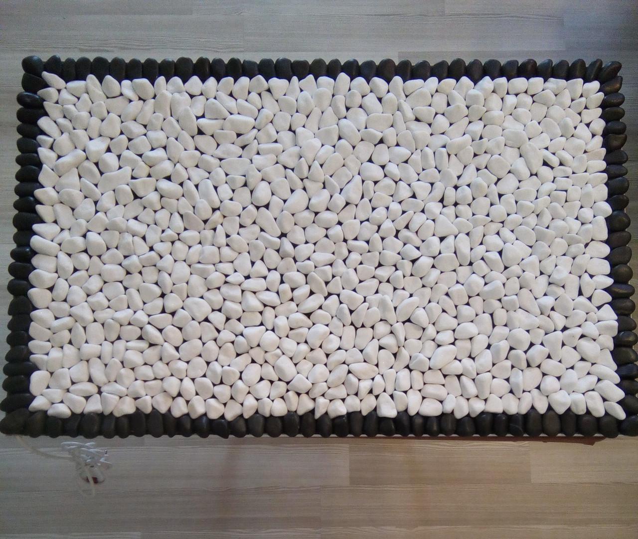 Массажный коврик из натурального камня (гальки) с подогревом, 50*80