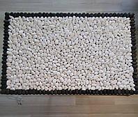Массажный коврик из натурального камня (гальки) с подогревом, 50*70