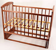 Кроватка деревянная детская маятник Наталка ясень темный