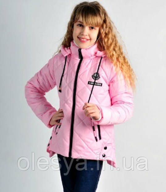 Модная демисезонная куртка на девочку Аля Размеры 140, 146