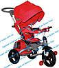 Трёхколёсный велосипед-коляска - ФАРА и НАДУВНЫЕ КОЛЕСА Transformer MODI Azimut T500 AL Air (6 в 1) Красный
