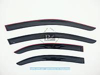 Дефлекторы окон CHEVROLET Aveo III Седан (Т250) 2005 (на скотче) ветровики