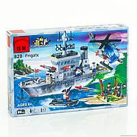 BRICK 820 (18) Военный корабль 614 деталей, в коробке