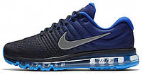 """Мужские спортивные кроссовки Nike Air Max 2017 """"Blue/Black"""" (Найк Аир Макс 2017) синие/черные"""