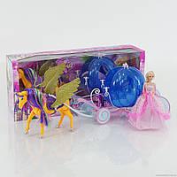 Карета 66616 (6) кукла, лошадь, на батарейке, в коробке