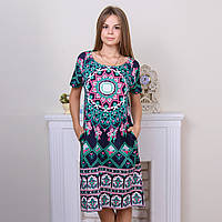 Платье для дома женское с абстрактным узором INTENSIVE Турция intsv 17253 (4 ед. в упаковке)