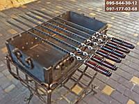 Шампур для ЛЮЛЯ-КЕБАБА с деревянной ручкой, 80 см, фото 1