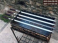 Шампур для ЛЮЛЯ-КЕБАБА с деревянной ручкой, 90 см, фото 1