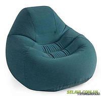 Intex Велюр кресло 68583 зеленое 122-127-81 см