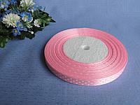 Атласная лента в горошек . Цвет розовый.0.9 см. Бобина 54 грн - 45 метров