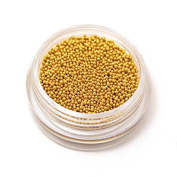 Бисер (бульонки) металлические золото
