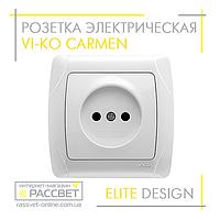 Розетка электрическая VI-KO Carmen одинарная без заземления белая