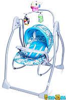 Детская колыбель-качеля 2в1 TILLY BT-SC-0003 голубая