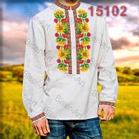 Заготовка для вишивки чоловічої сорочки 15102на льоні
