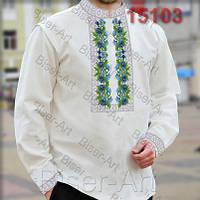 Заготовка для вишивки чоловічої сорочки 15103на льоні
