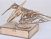3D пазл Макет-скелет из дерева рептилии Птеродактель