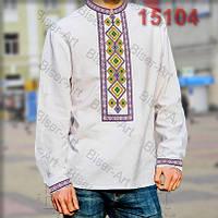 Заготовка для вишивки чоловічої сорочки 15104на льоні