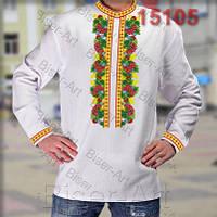 Заготовка для вишивки чоловічої сорочки 15105на льоні